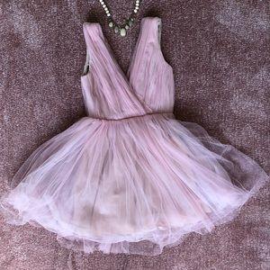 Zara rosy pink tulle fairytale dress S